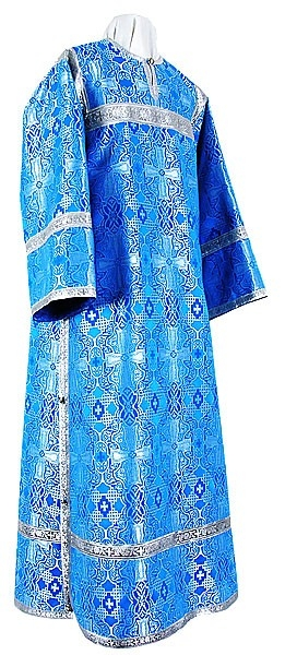 Clergy stikharion - metallic brocade B (blue-silver)