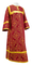 Clergy sticharion - Alania metallic brocade B (claret-gold), Economy design