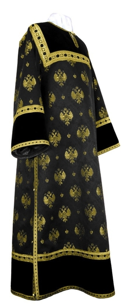 Clergy stikharion - metallic brocade B (black-gold)