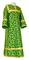Clergy sticharion - Cappadocia metallic brocade B (green-gold), Economy cross design