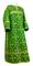 Clergy sticharion - Soloun metallic brocade B (green-gold), Standard cross design