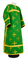 Clergy sticharion - Eufrosinia metallic brocade B (green-gold), Standard cross design