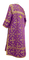 Clergy sticharion - Soloun metallic brocade B (violet-gold), back, Standard design