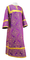 Clergy sticharion - Alania metallic brocade B (violet-gold), Economy design