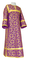 Clergy sticharion - Cappadocia metallic brocade B (violet-gold), Economy design