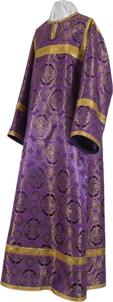 Clergy stikharion - metallic brocade B (violet-gold)