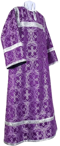 Clergy stikharion - metallic brocade B (violet-silver)