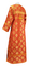 Clergy sticharion - Myra Lycea metallic brocade B (red-gold), back, Standard design