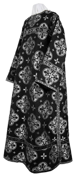 Clergy stikharion - metallic brocade B (black-silver)