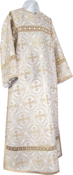 Clergy stikharion - metallic brocade B (white-gold)