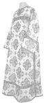 Clergy stikharion - metallic brocade B (white-silver)