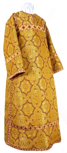 Clergy stikharion - metallic brocade BG1 (yellow-claret-gold)
