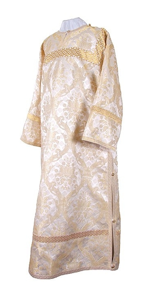 Clergy stikharion - metallic brocade BG1 (white-gold)
