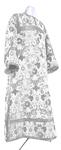 Clergy stikharion - metallic brocade BG1 (white-silver)