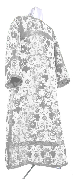 Clergy stikharion - metallic brocade BG1 (white-silver)