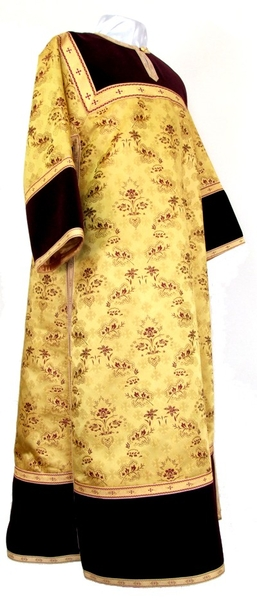 Clergy stikharion - metallic brocade BG2 (yellow-claret-gold)