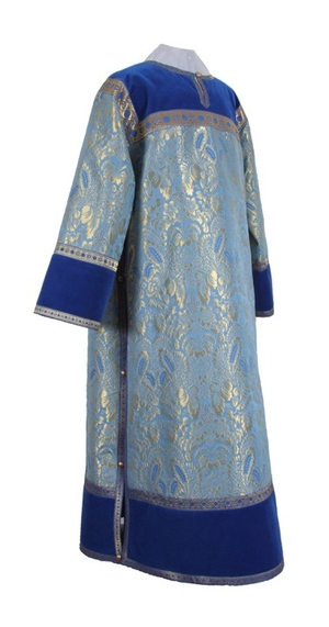 Clergy stikharion - metallic brocade BG3 (blue-gold)