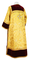 Clergy sticharion - Klionik metallic brocade BG3 (yellow-gold) (back), Standard design