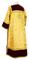 Clergy sticharion - Klionik metallic brocade BG3 (yellow-gold) (back), Standard design