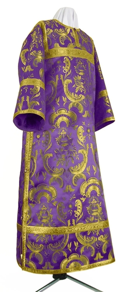 Clergy stikharion - metallic brocade BG3 (violet-gold)