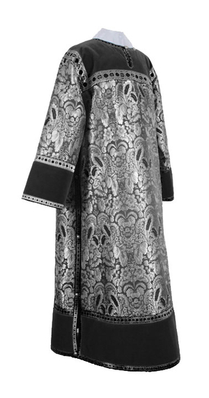 Clergy stikharion - metallic brocade BG3 (black-silver)
