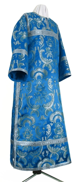 Clergy stikharion - metallic brocade BG4 (blue-silver)