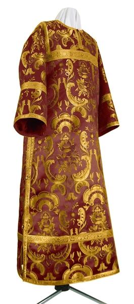 Clergy stikharion - metallic brocade BG4 (claret-gold)