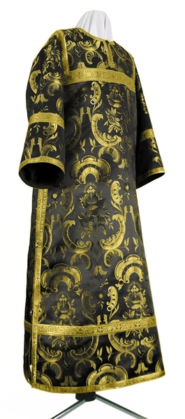 Clergy stikharion - metallic brocade BG4 (black-gold)