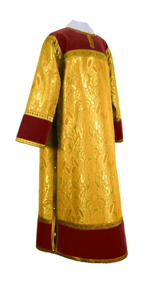 Clergy stikharion - metallic brocade BG4 (yellow-claret-gold)