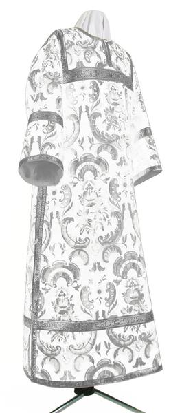 Clergy stikharion - metallic brocade BG4 (white-silver)