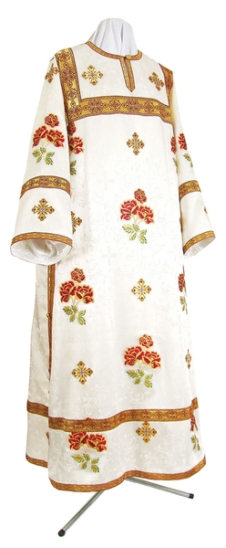 Clergy stikharion - metallic brocade BG6 (white-gold)