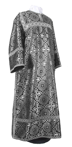 Clergy stikharion - rayon brocade S2 (black-silver)