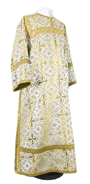Clergy stikharion - rayon brocade S2 (white-gold)