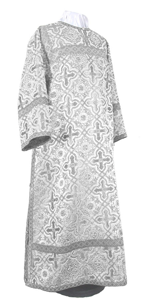 Clergy stikharion - rayon brocade S2 (white-silver)