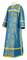 Clergy sticharion - Vilno rayon brocade S3 (blue-gold), Standard design