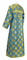 Clergy sticharion - Myra Lycea rayon brocade S3 (blue-gold), back, Standard design