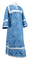 Clergy sticharion - Alania rayon brocade S3 (blue-silver), Economy design