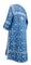 Clergy sticharion - Soloun rayon brocade S3 (blue-silver), back, Standard design