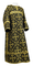 Clergy sticharion - Soloun rayon brocade S3 (black-gold), Standard design