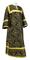 Clergy sticharion - Alania rayon brocade S3 (black-gold), Economy design