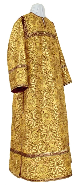 Clergy stikharion - rayon brocade S3 (yellow-claret-gold)