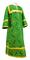 Clergy sticharion - Alania rayon brocade S3 (green-gold), Economy cross design