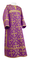 Clergy sticharion - Soloun rayon brocade S3 (violet-gold), Standard design