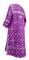 Clergy sticharion - Soloun rayon brocade S3 (violet-silver), back, Standard design