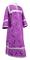 Clergy sticharion - Alania rayon brocade S3 (violet-silver), Economy design