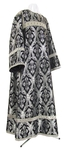 Clergy stikharion - rayon brocade S3 (black-silver)
