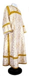 Clergy stikharion - rayon brocade S3 (white-gold)