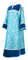 Clergy sticharion - Bouquet rayon brocade S4 (blue-silver) with velvet inserts, Standard design