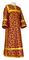 Clergy sticharion - Cappadocia rayon brocade S4 (claret-gold), Economy design