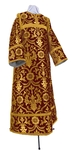 Clergy stikharion - rayon brocade S4 (claret-gold)